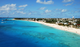 View of Cockburn beach on Grand Turk - Turks & Caicos
