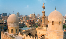 City view with Sultan hassan Mosque - Cairo, Egypt