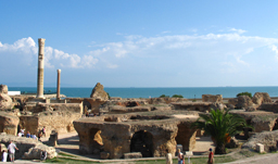 Riuns of Carthage and view of Mediterranean Sea - Tunis, Tunisia