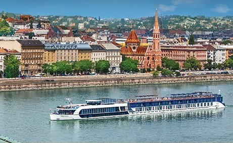 River Cruise boat in Europe