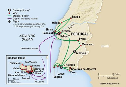 Sunny Portugal Estoril Coast Alentejo Algarve Collette - Portugal map coast